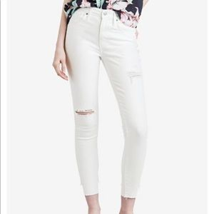 NWT Levis 721 High Rise Raw Hem Ankle Skinny Jeans